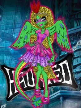 Monster High Haunted OC request  Tera Coatl by lady-yuna-chi
