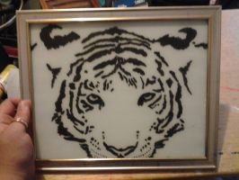White Tiger Picture Frame by LeonPiersLover