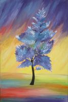 Blue Tree by OShea42