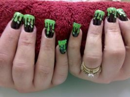 Dripping Slime - Nail Art by DignifiedDoll