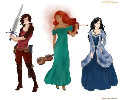 Graceling Realm Series ladies by MrsKanda
