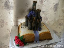 Dragon Storybook cake by cake-engineering
