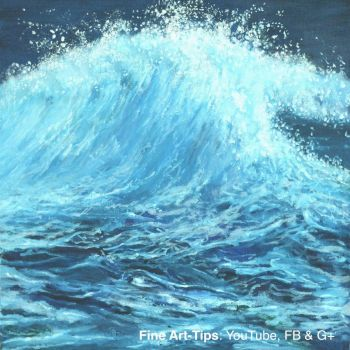 How to Paint a Sea Wave - Narrated Oil Painting by ArtistLeonardo