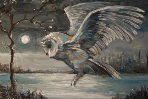 Moon Flying by Audrey-Dugan-Art