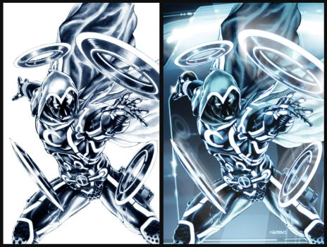 Moon Knight: TRON-ified by diablo2003