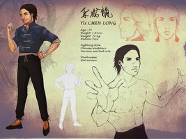 Yu Chen Long character sheet by Shinohahn-chan