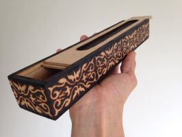 Pyrography Incense Box Open by tiagoianuck