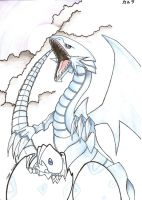 white dragon of blue eyes by KarLaBlack