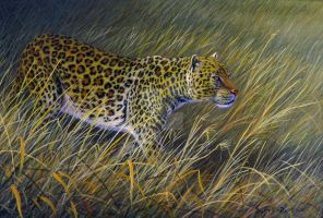 Arcylie Leopard Painting by WildartBD