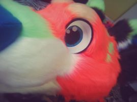 Pidge fursuit head by Lil-Birdd