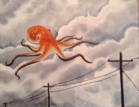 Uninvited Flying Octopus by Mythical-Man