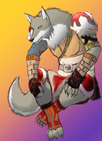 Wolf Warrior by MasaBear