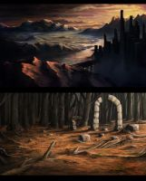 A Couple of Speedy Enviro Paintings by Solfour