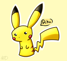 Kawaii Pikachu by WinterTheDragoness
