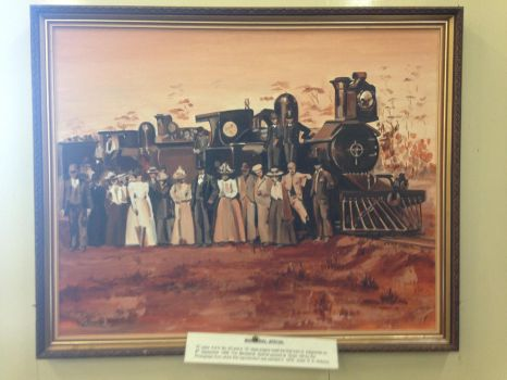 Painting of WAGR locomotives and town folk by The-ARC-Minister