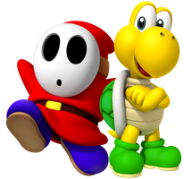 Koopa Troopa and Shy Guy by Legend-tony980