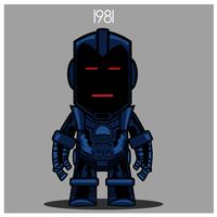 Iron Man  - Stealth Armor 1981 by Yeti-Labs