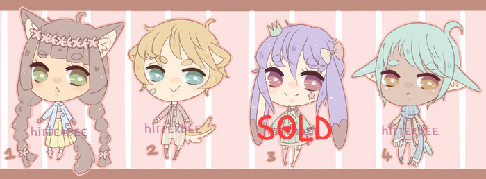 $2/200pts Mini Pastel Adopts [3/4 OPEN] by hitterbee