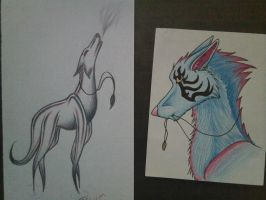 Doodles out of boredom by shaman-ninja