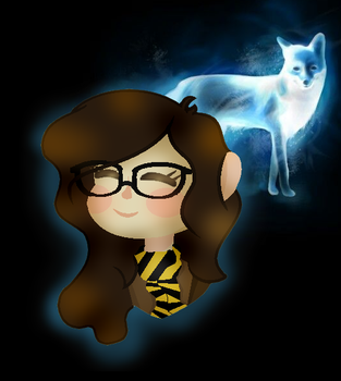 Harry Potter Fanart-Me and My Patronus by PandaCakeGold