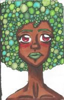 green afro by TheLuckyStarhopper