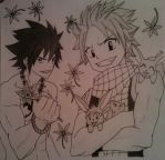 Gray and Natsu Fairy Tail by Letizi