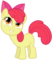 MLP: Apple Bloom smiling (v2) by FloppyChiptunes