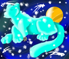 Space Leopard by crxzyduck
