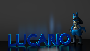 Lucario [WALLPAPER] [3D MODEL] by TheModerator