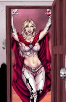 Sugar Bratt as Emma Frost - Colors by TracyWong