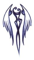tattoo design - Winged Embrace by luvmegabyte