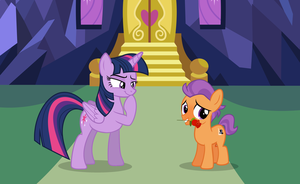 Asking Princess Twilight for a date by LunaticDawn
