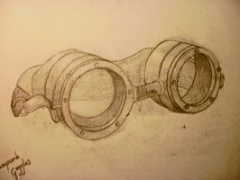 Steampunk Goggles by luciescarlett