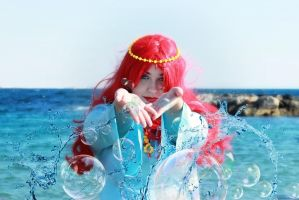 Granmamare - Ponyo on the cliff by the sea by Kharen94th