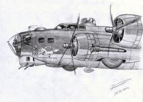 Boeing B-17G (Flying Fortress) by GrafDeWolfGuN