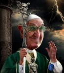 Pope caricature by funkwood