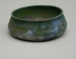 Low Alligator Raku Bowl by UrsusAureusHistorias