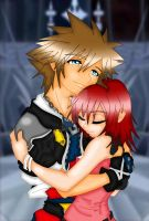 Sora and Kairi - Embrace by Zephra85