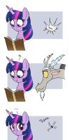 MLP FIM comic - Discord Annoy Princess Twilight by Joakaha