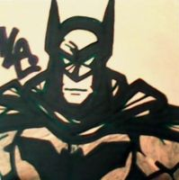 Straight Face Batman Post-It by dark-es-will
