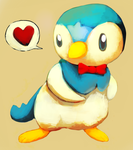 Piplup gift by kiwisco
