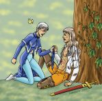 APH : fem!Prussia and male!Hongary by iconovore