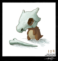Cubone!  Pokemon One a Day! by BonnyJohn