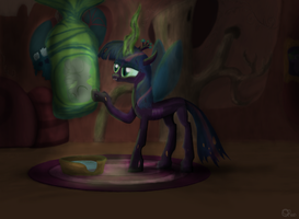 Twilight the Changeling Queen by NovaMarcellus