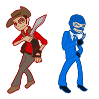 TPF2: Sniper and Spy by MrTwinklehead