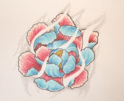 peony by willowtreetattoos