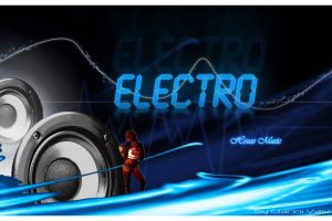 Electro House Music Poster by giannivasi