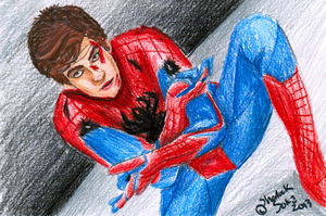 Spiderman Sketch Card Thingy by Chrisily