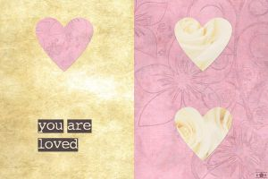 You are Loved Scrapbook Valentine by CelidahD