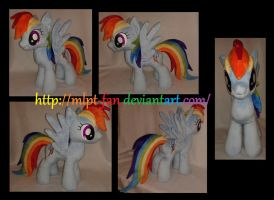 18.5 inches Rainbow Dash by MLPT-fan